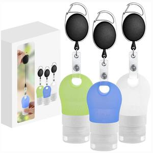 3Pcs Silicone Travel Bottles Portable Refillable Squeeze Containers For Toiletries Shampoo Conditioner Lotion