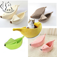 House Puppy-Warm-Cushion Banana-Shape Cats-Bed-Mat Kennel Pets-Dog-Supplies Pet-Cat Cave
