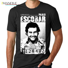 Pablo Escobar T Shirt Weed Mafia Scareface Luciano Capon Men 100% Cotton Tees Plus Size Short Sleeve T-Shirt