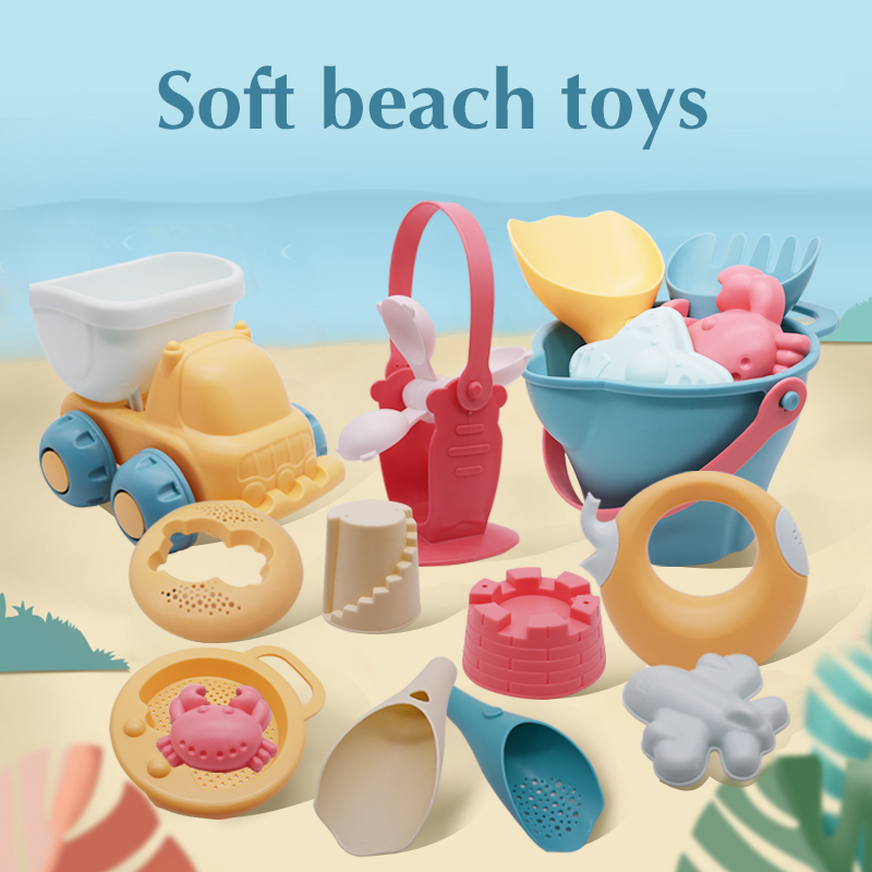 Beach Toys For Kids 5-17pcs Baby Beach Game Toys Children Sandbox Set Kit Summer Toys For Beach Play Sand Water Game Play Cart