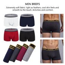4 pièces/ensemble homme culottes coton boxeurs sous vêtements hommes Boxer taille Sexy confortable Boxer respirant couleur unie