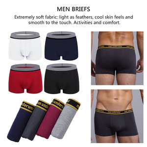 Image 1 - 4pcs/set Male Panties Cotton Boxers Underwear Mens Boxer Waist Sexy Comfortable Boxer Breathable Solid Color