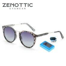 ZENOTTIC, Ретро стиль, поляризационные солнцезащитные очки для женщин, мужчин, фирменный дизайн, женские солнцезащитные очки, круглые, негабаритные, солнцезащитные очки, модные очки