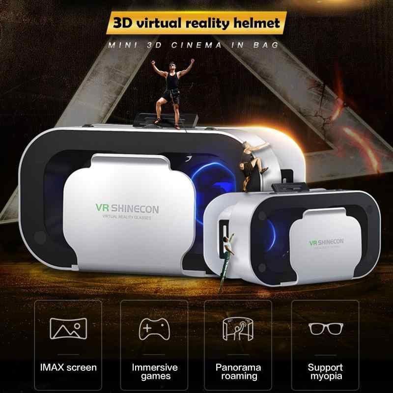 Dropshipping VR Shinecon G05A Helm 3D Kacamata untuk iPhone Android Smart Phone Kacamata Casque Len Game Lunette