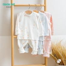 Cotton Long Sleeve Infant Baby Bodysuit Set Baby Boys Girls Clothes 2PCS Baby Pajamas Unisex Kids Clothing Sets Clothing Outfits