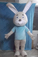 quality Easter bunny mascot costumes professional grey green rabbit costumes design OEM party costumes