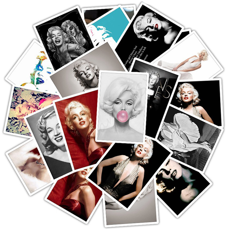 25pcs Marilyn Monroe Waterproof Cartoon Sticker For Case Decal Sticker To DIY Laptop Motorcycle Luggage Snowboard Car F4