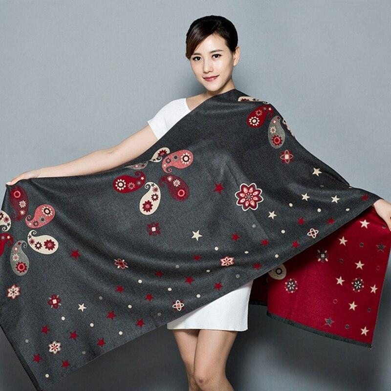 Scarf Versatile Warm Blanket Shawl New Winter Cashmere Scarf Reversible Shawl Fashion Elegant Travel Scarf шаль