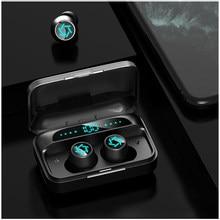 Display led bluetooth v5.0 fone de ouvido sem fio, in-ear fones de ouvido estéreo com esportes à prova dwaterproof água fones de ouvido de controle de toque