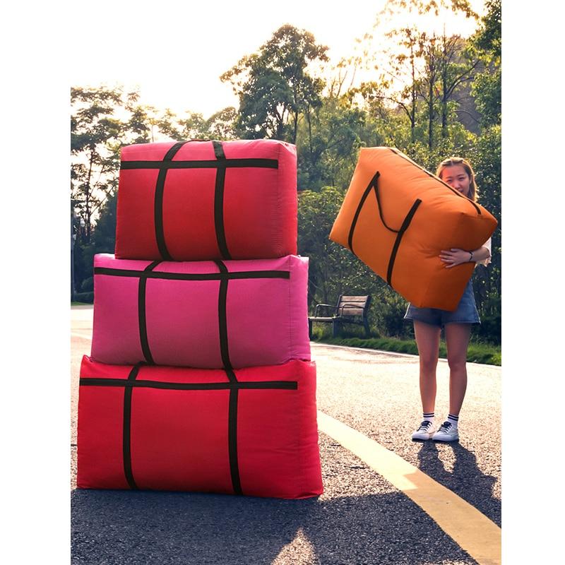 Sort Out Artifact  Travel Bag Canvas Portable Women Baggage Bag Large Capacity 40L 100L 180L Big Storage Bag Sacks Extra Large