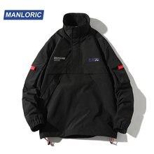 Manloric однотонная повседневная мужская куртка без капюшона