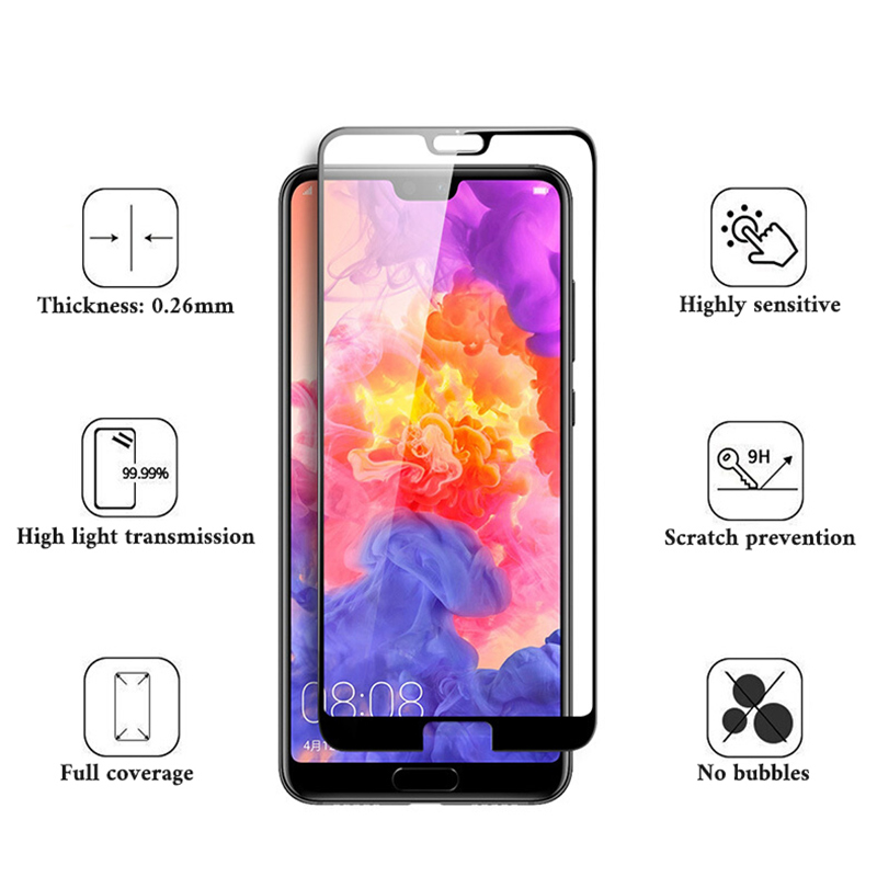High Quality Full Cover Protective Glass For Huawei P20 Lite P20 Pro Screen Protector Glass For Huawei P20 Lite Tempered Glass