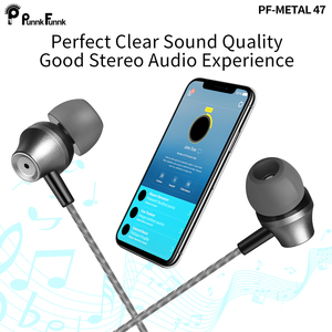 Image 5 - PunnkFunnk Metall Tiefe Bass Stereo headsets sport Kopfhörer W/Mic Volume Control für iphone 6 7 8 x samsung s10 s9 s8 s7 note9 j3