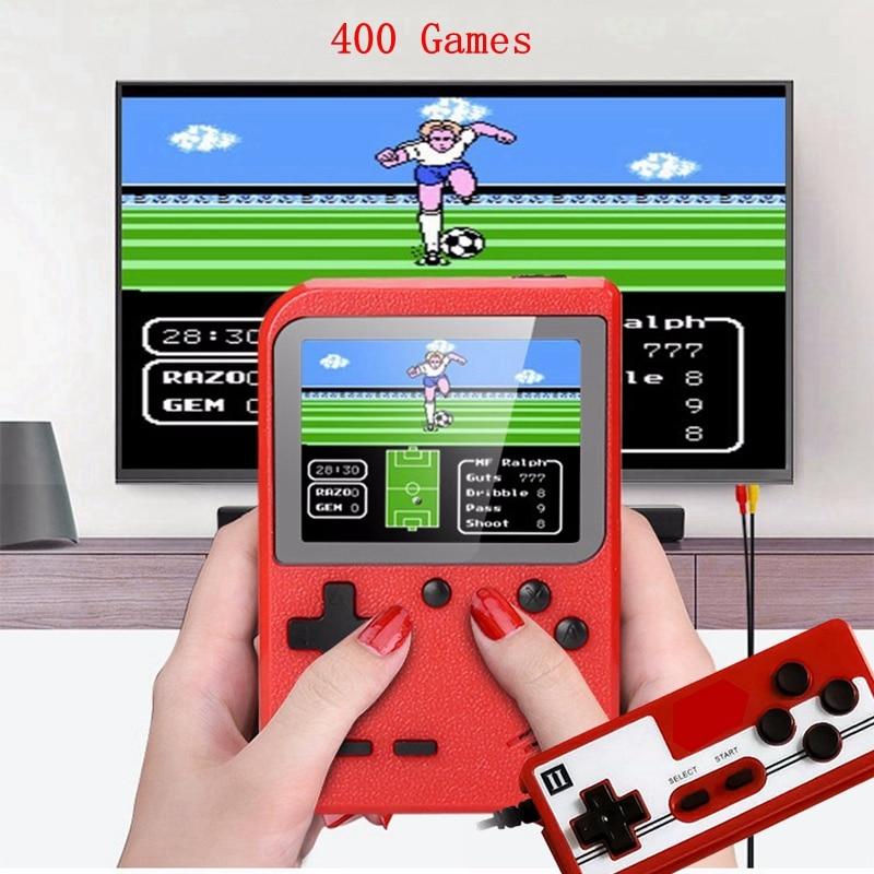 Новые Встроенные 400 игры ретро видео мини портативная игровая консоль геймпад 2 игрока двойной цветной детский 3,0 дюймовый ЖК-игровой плеер