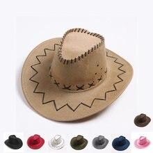 Ковбойские шляпы для шитья с большими полями осенние шапки Винтаж