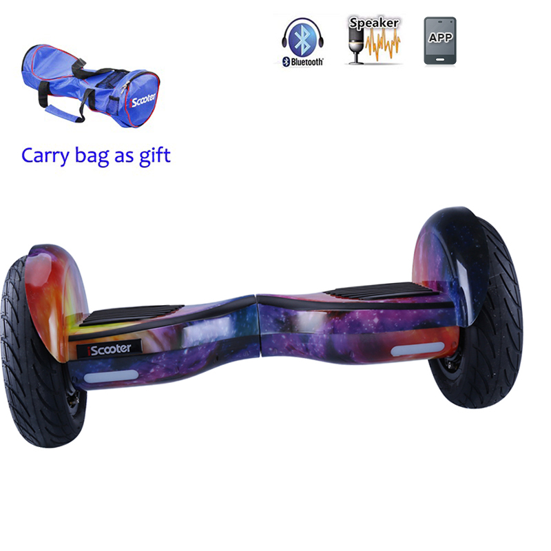 10 inch Self Balancing Hoverboard with Two Wheels and Bluetooth