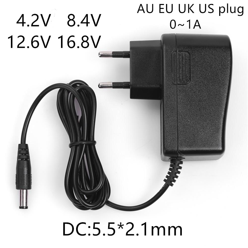 AC 100-240V DC 4,2 V 8,4 V 12,6 V 16,8 V 1A зарядное устройство адаптер питания 4,2 8,4 12,6 16,8 V 1000MA для 18650 литий-ионная батарея