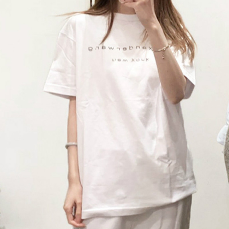 Women T-shirt 2020 Early Spring Printed Alphabet T-shirt Women