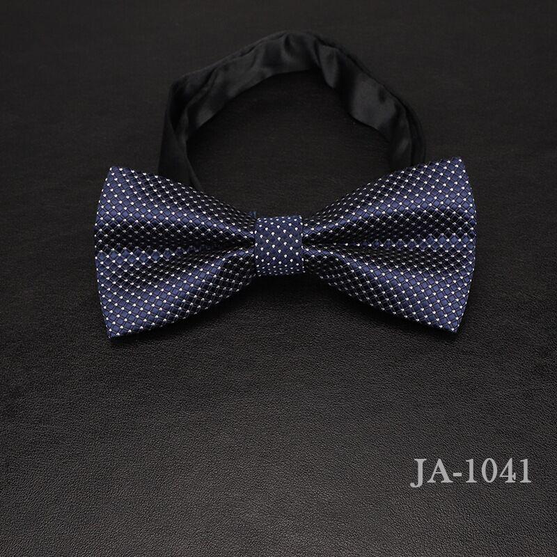 Дизайнерский галстук-бабочка, высокое качество, мода, мужская рубашка, аксессуары, темно-синий, в горошек, галстук-бабочка для свадьбы, для мужчин,, вечерние, деловые, официальные - Цвет: 1041