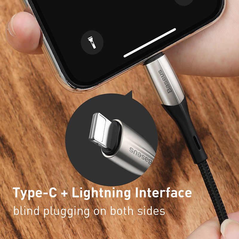 Usb tipo c A lightning cable PD rápido de carga para iPhone 11 pro xs max xr 8 7 6 6s plus 5se ipad cargador 18W 50cm 1m 2m corto