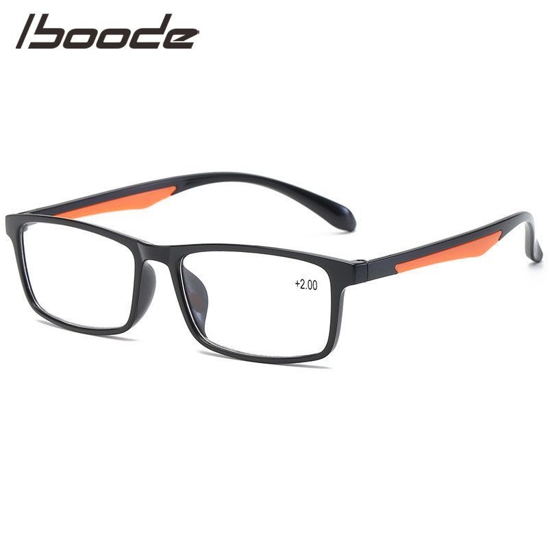 IBOODE TR90 Reading Glasses Women Men Square Presbyopic Eyeglasses Female Male Hyperopia Eyewear Optics Magnifying Spectacles