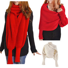 Fashion Winter Warm Solid Color Knitted Wrap Scarf Crochet T