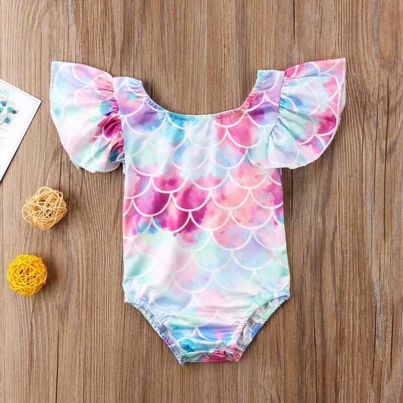 Cute Toddler Kid Baby Girl Mermaid Swimwear Swimsuit Bikini Bathing Suit Clothes