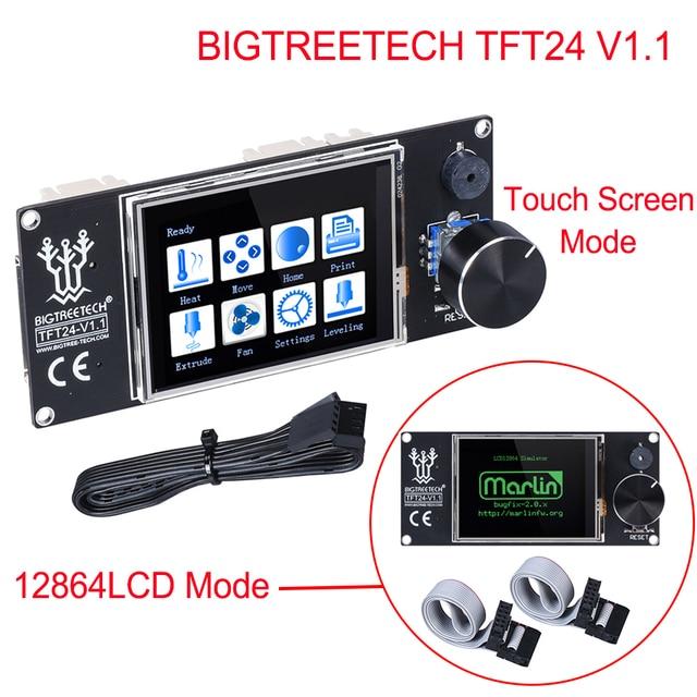BIGTREETECH TFT24 V1.1 شاشة تعمل باللمس/مثل 12864 شاشة الكريستال السائل ثلاثية الأبعاد أجزاء الطابعة ل أندر 3 SKR V1.3 برو MINI E3 VS MKS TFT24 TFT35