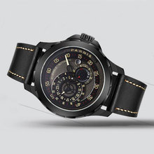 цена 44mm parnis black dial 24 hours PVD Sapphire glass miyota automatic mens watch онлайн в 2017 году