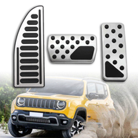 Edelstahl Auto Gaspedal Bremse Pedale Abdeckung Ruhe Pedale für Jeep Renegade Kompass Fiat 500X 2015 2019|Pedale|Kraftfahrzeuge und Motorräder -