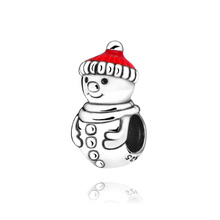 цена на 2019 Christmas New 100% New Beads Snowman  Christmas Hat Charm  fit Original Pandora Bracelets Women DIY Jewelry