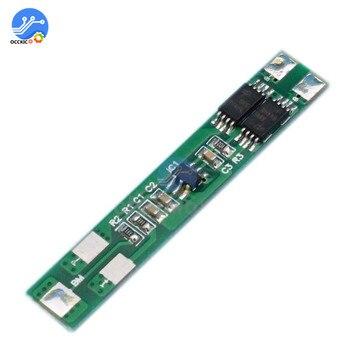 5 unids/lote BMS 2S 7,2 V 6A 18650 tablero de protección de carga de batería de litio Dual 2 MOS para carga de batería 18650