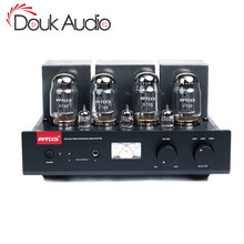 Douk audio Hi end Bluetooth Stereo Geïntegreerde KT88 Push Pull Vacuüm Buizenversterker HiFi Hoofdtelefoon Amp