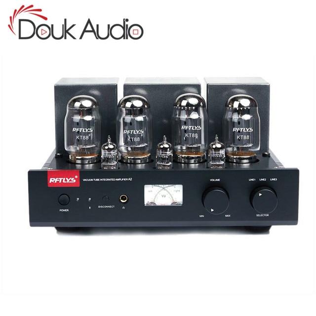 Douk audio Hi end Bluetooth Stereo Integrated KT88 Push Pull Vacuum Tube Amplifier HiFi Headphone Amp
