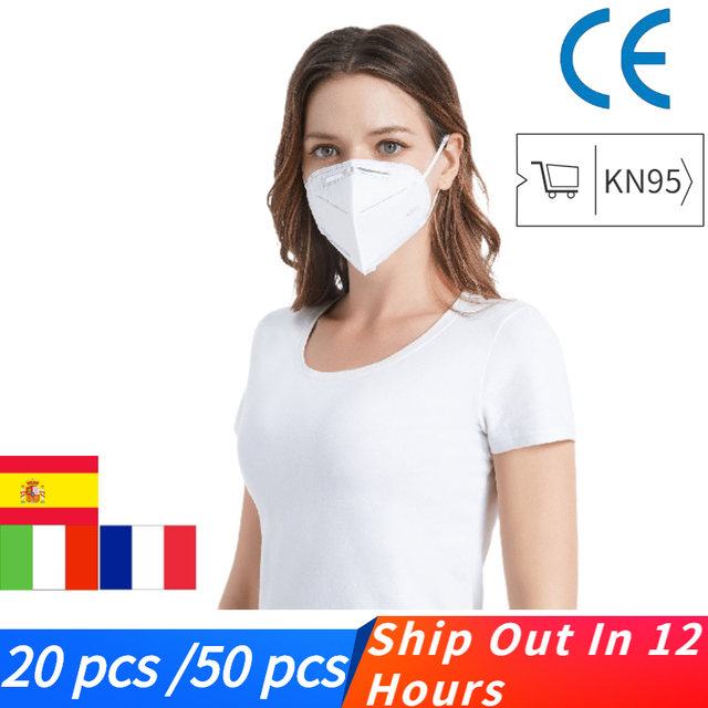 KN95 Mask mascarillas adultos Dustproof Anti-fog And Breathable Face Masks  4-layer protective mask mascherine Fast Shipping