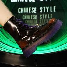 Женские Модные уличные Ботинки martin высококачественные рабочие