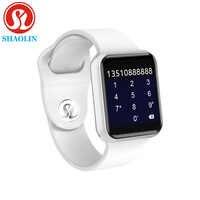 Smartwatch Serie 4 für Apple 42mm Smart Uhren Fitness Tracker Passometer Aktivität Armband Herzfrequenz Sensor (Rot Taste)