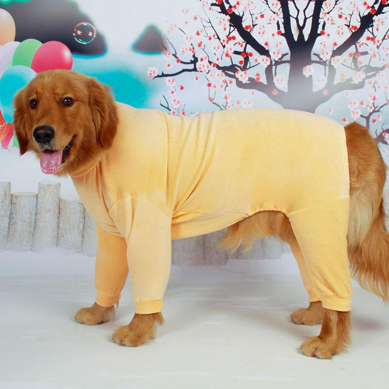 Big Dog Clothes Winter Large Dog Outfit Jumpsuit Pajamas Golden Retriever Husky Labrador Shepherd Dog Costume Garment Sleepwear