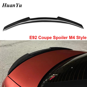 E92 Coupe M4 Style Carbon Fiber Trunk Spoiler for BMW 3 Series 2-Door Ducktail Lip Rear Wings 320i 330i 335i 2006-2013 image