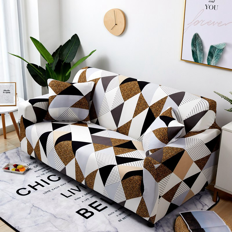 FORCHEER Printed Couch Cover with Elastic and High Density Fiber for Armchairs and Sofa of Living Room 2