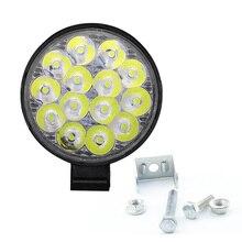 цена на 42W Car LED Work Light Flood Light Driving Spot Head Lamp For Off-road Truck ATV