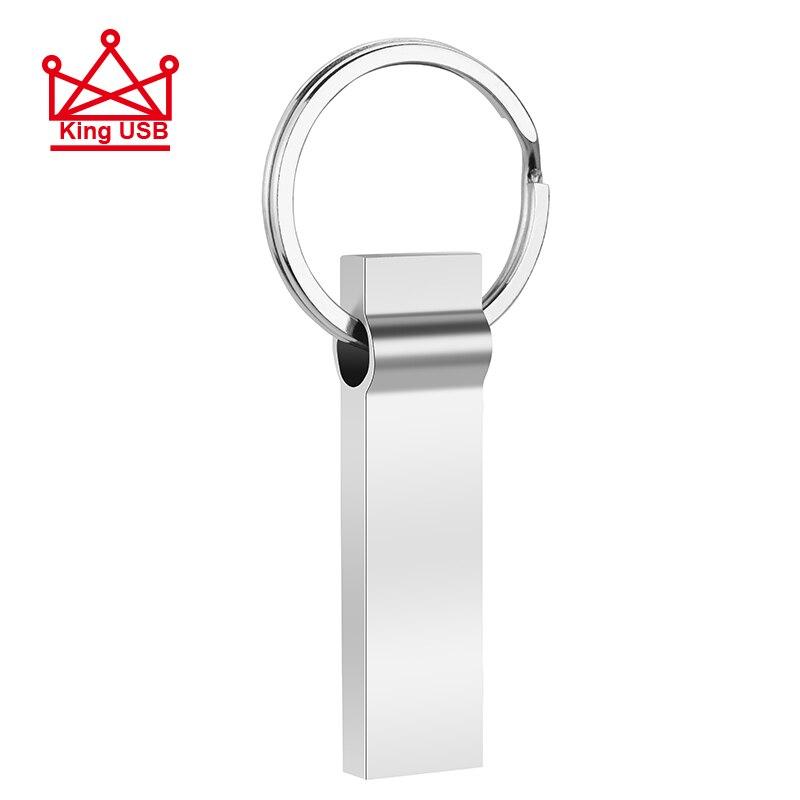 Waterproof Usb Flash Drive Pen Drive 4GB 8GB 16GB 32GB 64GB Metal Pendrive Card Memory Stick Drives U Disk With Key Ring