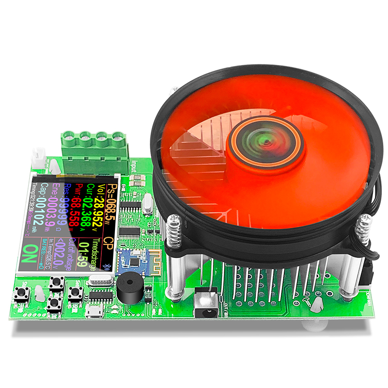 Tools : DL24P 4-WIRE Battery Capacity Tester Electronic Load Power Tester Discharge Meter 150W 200V 25A