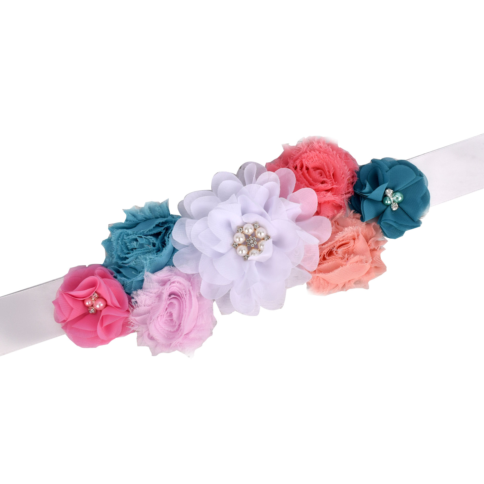 Theeper Maternity Sash Pregnancy Belly Belt Baby Shower Party Flower Sash  Photo Prop Woman Vintage Sash Wedding Fancy Waistband