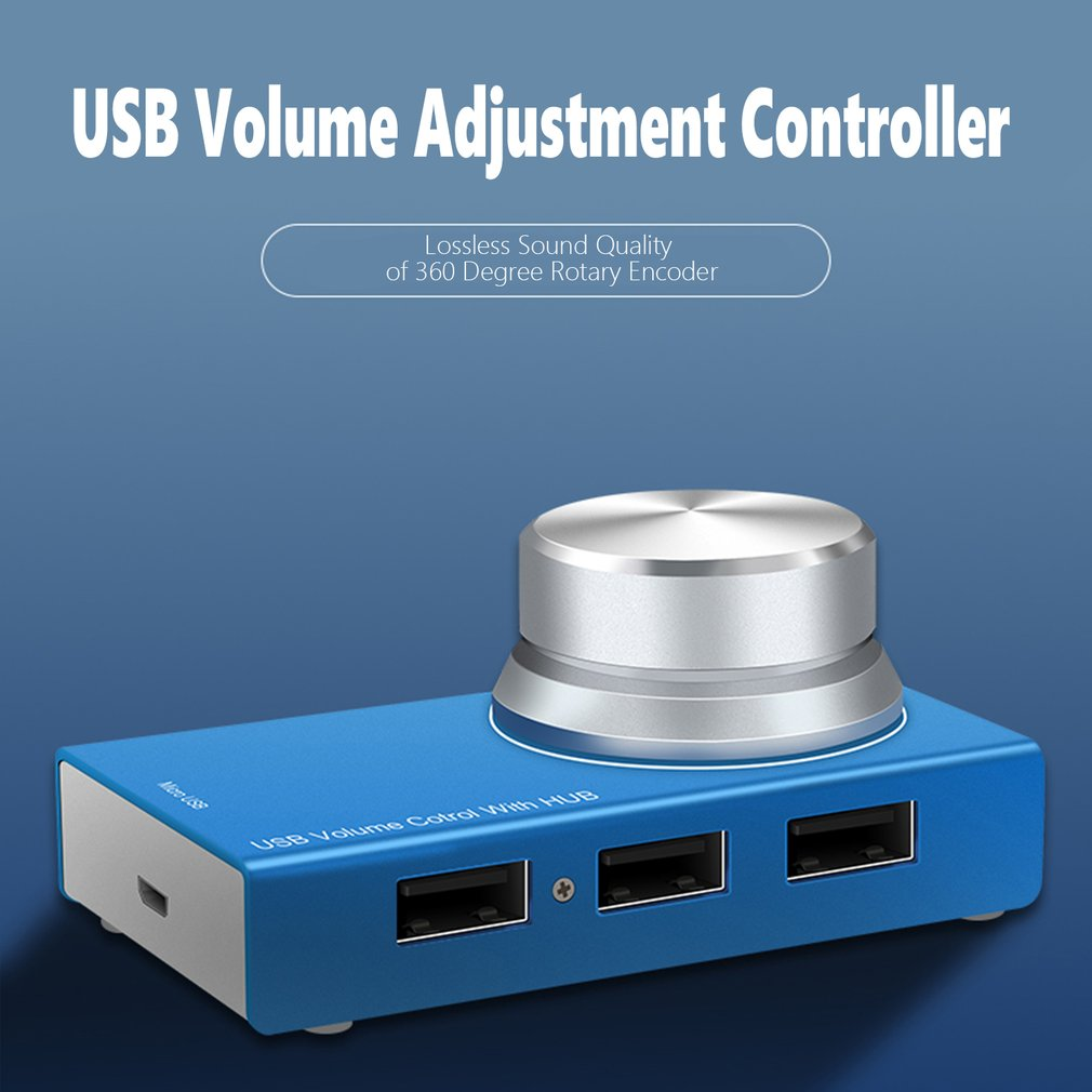 USB Controller Volume//Audio Adjuster PC Speakers Switch Control Module