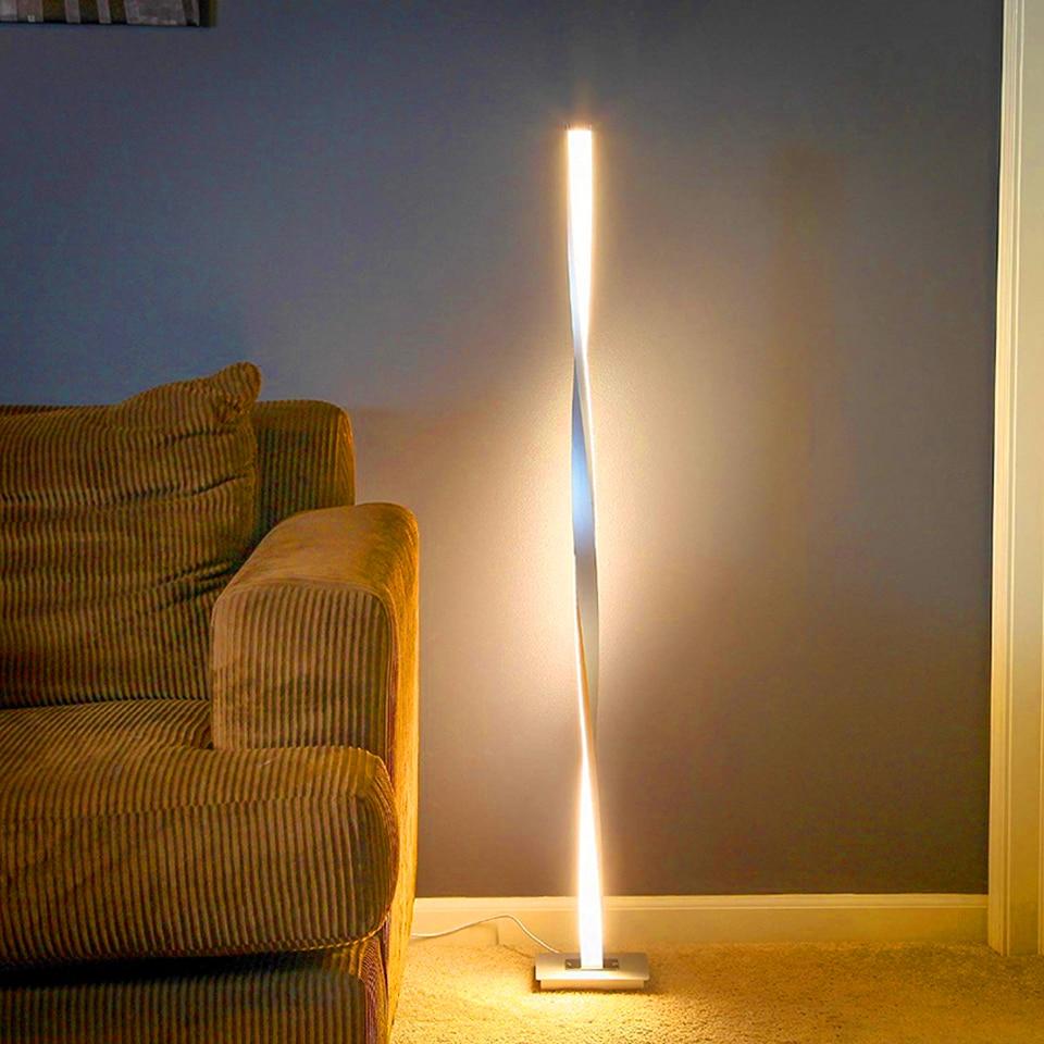 moderno led lampadas assoalho iluminacao sala 02