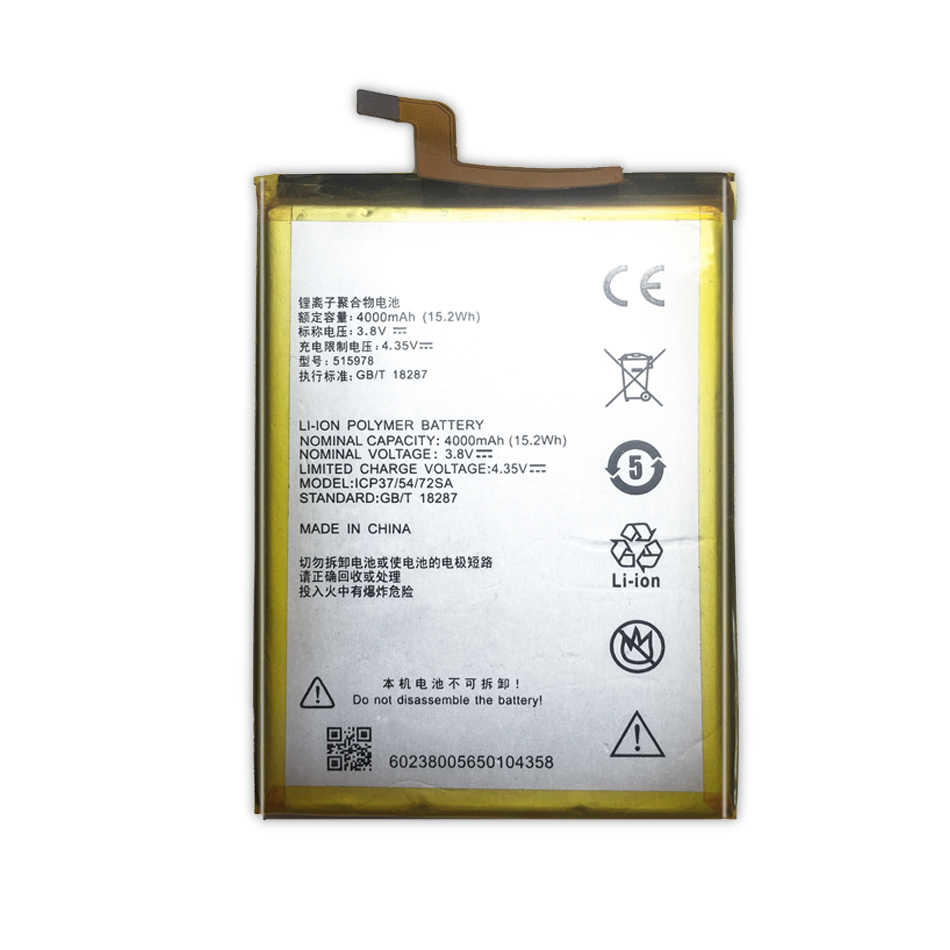 E169-515978 zte ブレード X3 Q519T D2 刃 A452 T620 T-620 交換用バッテリー 4000 mah E169 515978 + 追跡番号