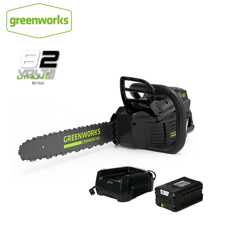 New Arrival GreenWorks Pro GCS181 82V 18-Inch Cordless Chainsaw 5Ah Li-Ion Battery Charger Included Free Return