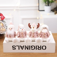 Christmas Decorations Pink Plush Dolls Old Man Snowman Bear Angel Doll Christmas Decorations for Home Kids New Year Gift декоративные украшения poetry man home decorations 2158c