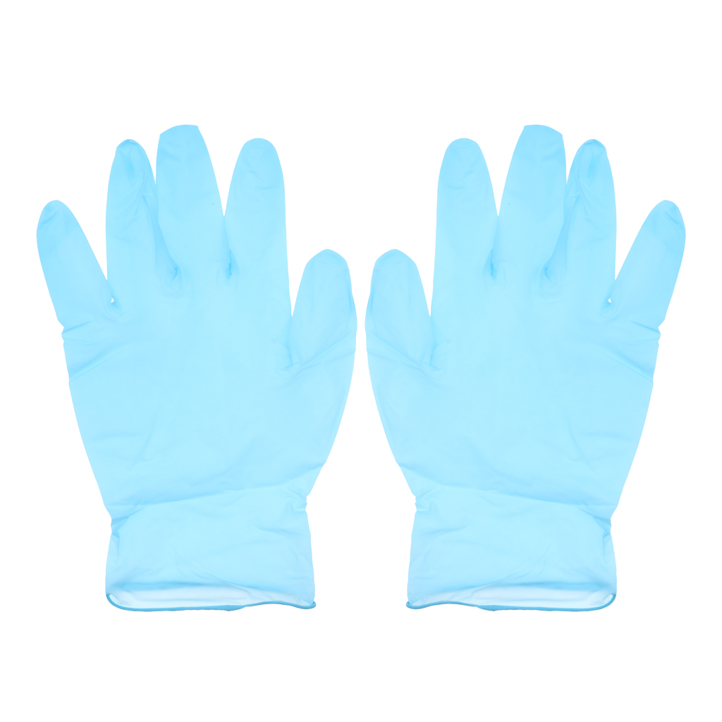 Blue Nitrile Exam Gloves, Powder Free,Latex Rubber Free,Disposable,Non Sterile Gloves Box Of 100 Pieces